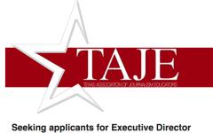 OPENING: TAJE Executive Director
