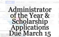 Applications for Admin of Year & Scholarships Due March 15