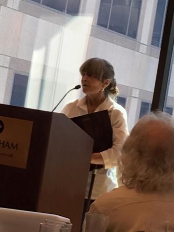 Morgan Goldbarth receives a Trailblazer Award.