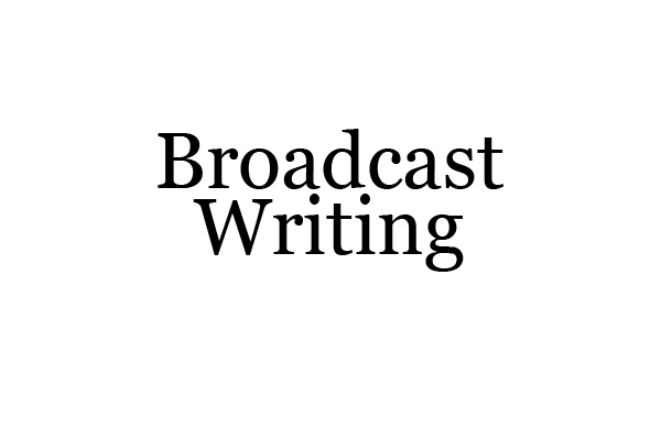 TAJE | Broadcast Writing