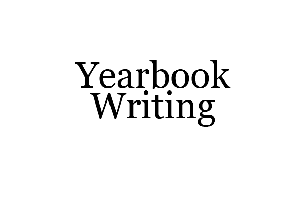 Yearbook Copy Writing