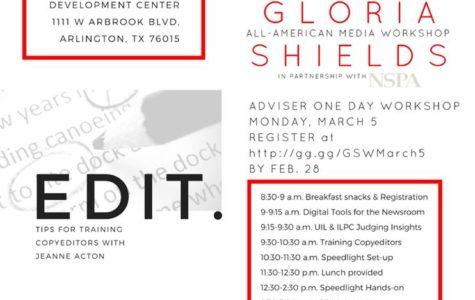 March 5 Gloria Shields Workshop in Arlington